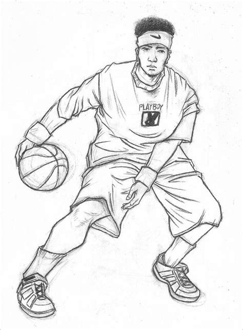 18+ Fantastic Basketball Drawings to Download!   Free