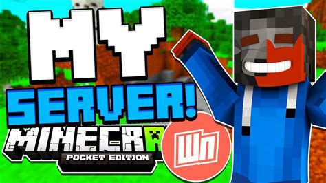 MY MCPE SERVER IS HERE! (WitherBE) - YouTube