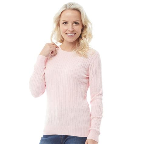 Crew Clothing Damen Baumwolle Cable Pullover mit