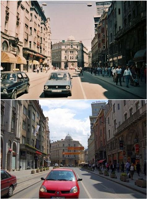 Photos of Sarajevo after the 1992-96 Siege and Now - Barnorama