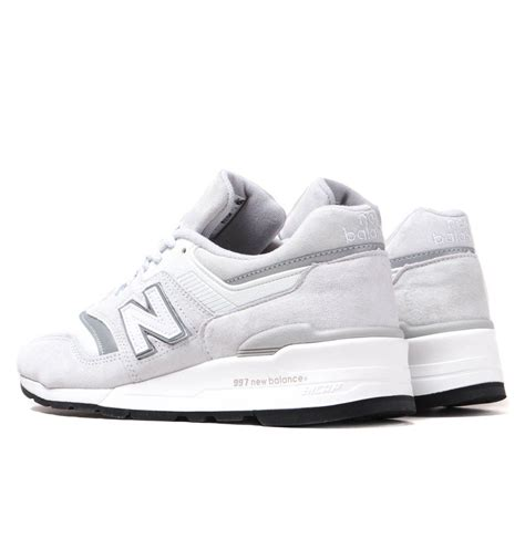 New Balance M997 White & Grey Suede Trainers