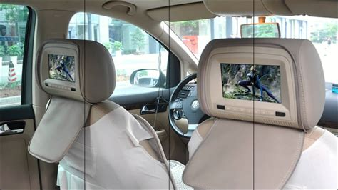 7 Inch Headrest DVD Player with Gaming System and FM