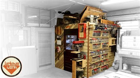 French Cleat Storage Wall & Loft - YouTube