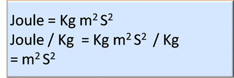 What is the physical quantity of the unit joule/kg? - Quora