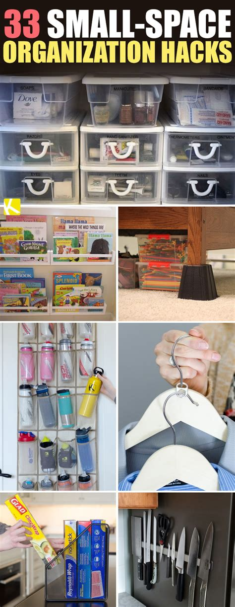 33 Sneaky Small-Space Organization Hacks - The Krazy