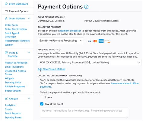 How to use Eventbrite Payment Processing   Eventbrite Help