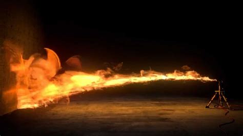 Flamethrower created with Blender - YouTube